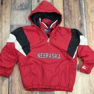 Nebraska Corn Huskers Vintage Starter Pullover Med
